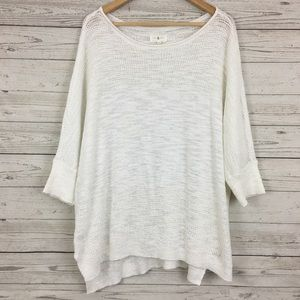Lou & Grey oversized dolman knit white sweater